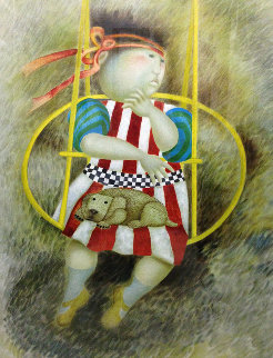 La Balancoire Jaune 1992 Limited Edition Print - Graciela Rodo Boulanger