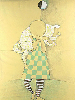 Girl With Goat 1978 Limited Edition Print by Graciela Rodo Boulanger