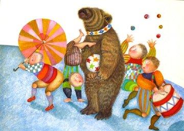 Parade Elephant & Parade Bear - Set of 2 Limited Edition Print by Graciela Rodo Boulanger