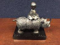 Girl on Rhino Bronze Sculpture Sculpture by Graciela Rodo Boulanger - 2