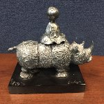 Girl on Rhino Bronze Sculpture Sculpture - Graciela Rodo Boulanger