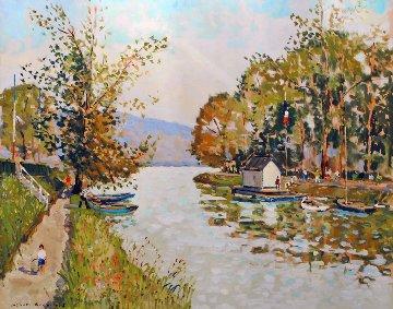 Passage En Yveline 40x48 Huge Original Painting - Jacques Bouyssou