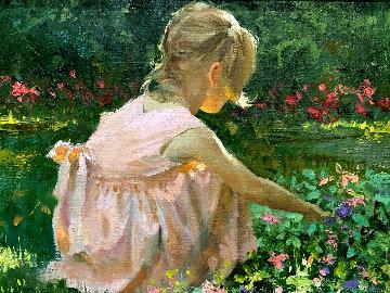 Spring Garden 2000 8x10 Original Painting - Joe Bowler