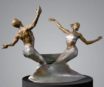 Freedom Bound Bronze Sculpture 2008 28 in Sculpture by Paige Bradley