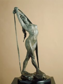 Release Bronze Sculpture 1996 22 in Sculpture by Paige Bradley