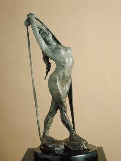 Release Bronze Sculpture 1996 22 in Sculpture - Paige Bradley
