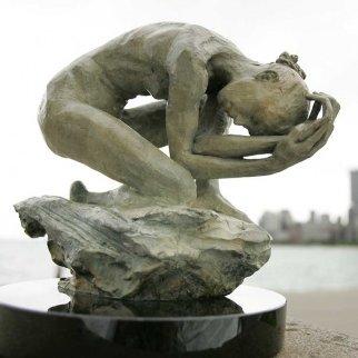 Winter Bronze Sculpture 2005 11 in  Sculpture by Paige Bradley