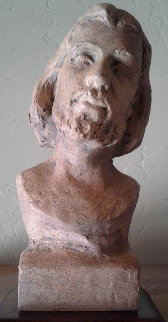 Bust of Christ Clay Sculpture Sculpture - Laura Lee Stay Bradshaw