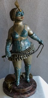 By Appointment Only (Zelda) Bronze Sculpture 1989 16in Sculpture by Charles Ray Bragg