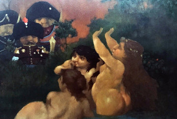 Untitled Painting 29x23 Original Painting - Charles Ray Bragg