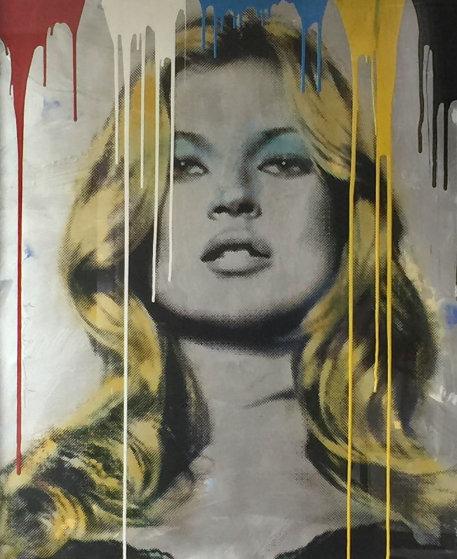 Kate Moss Unique 2012 40x50 Original Painting by Mr. Brainwash
