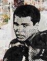 Ali 2014 45x56 Original Painting - Mr. Brainwash