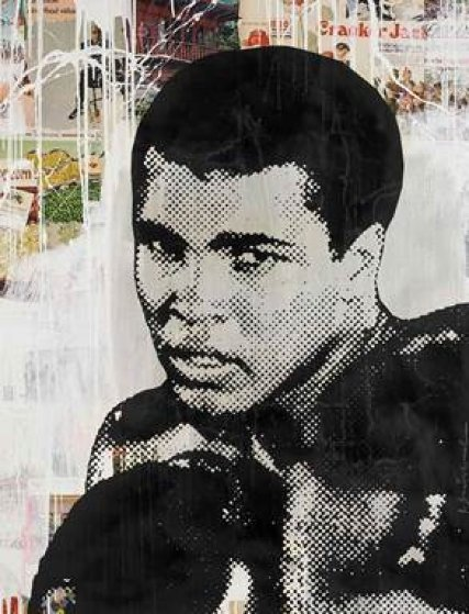 Ali 2014 45x56 Original Painting by Mr. Brainwash