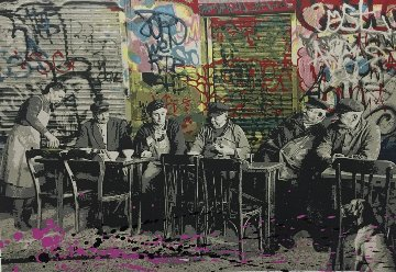Le Bistro Unique 22x30 Limited Edition Print - Mr. Brainwash