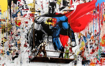 Batman Vs Superman 2016  Limited Edition Print - Mr. Brainwash