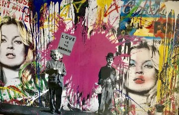 Juxtapose 2014 71x43 Works on Paper (not prints) - Mr. Brainwash