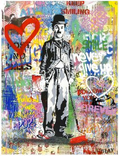 Chaplin 2017 47x37 Original Painting by Mr. Brainwash