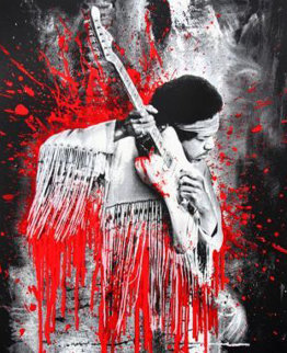 Jimi Hendrix - Red Version 2015 Limited Edition Print by Mr. Brainwash
