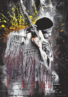 Jimi Hendrix Purple Rain 2015 Limited Edition Print - Mr. Brainwash