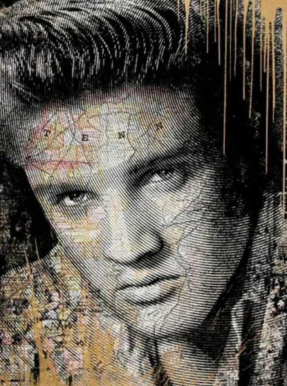 King of Rock Gold 2017 Limited Edition Print by Mr. Brainwash