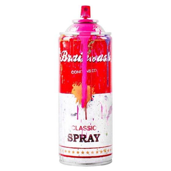 Spray Can Pink 2013 Sculpture by Mr. Brainwash