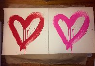 Love Heart - Red And Pink Matching Set 2017 Limited Edition Print by Mr. Brainwash - 1