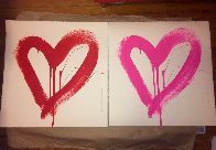 Love Heart - Red And Pink Matching Set 2017 Limited Edition Print by Mr. Brainwash - 3