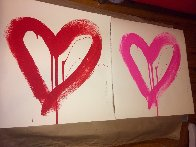 Love Heart - Red And Pink Matching Set 2017 Limited Edition Print by Mr. Brainwash - 5