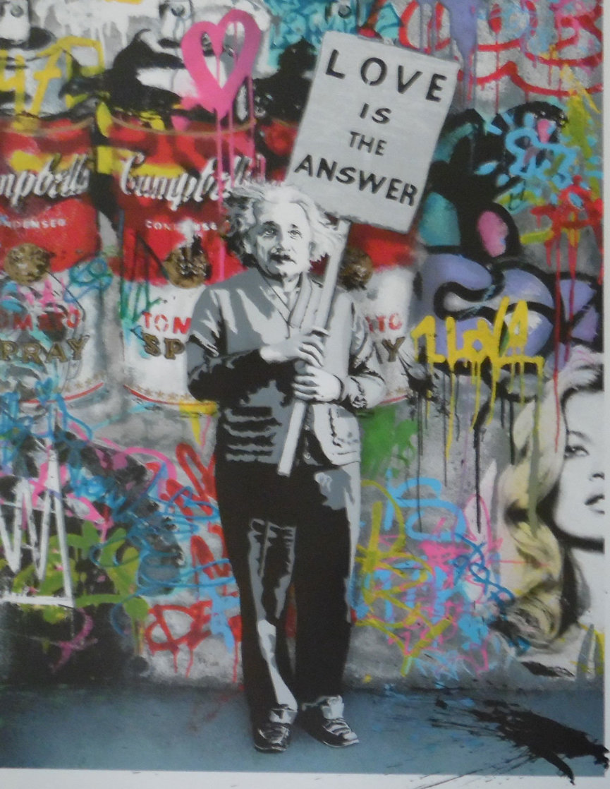 Love is the Answer 2012 Embellished Super Huge Limited Edition Print by Mr. Brainwash