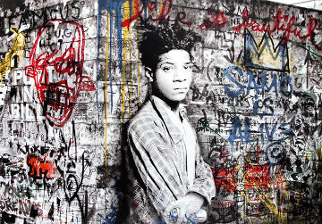 Basquiat 2016 Super Huge Limited Edition Print - Mr. Brainwash