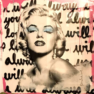 Marilyn Monroe 2018 38x38 Original Painting - Mr. Brainwash