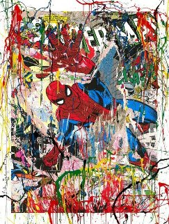 Spider-man 2019 Embellished Limited Edition Print by Mr. Brainwash