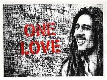 Happy Birthday Bob Marley - One Love (Red) 2019 Limited Edition Print by Mr. Brainwash