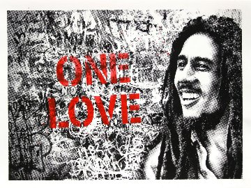 Happy Birthday Bob Marley - One Love (Red) 2019 Limited Edition Print - Mr. Brainwash