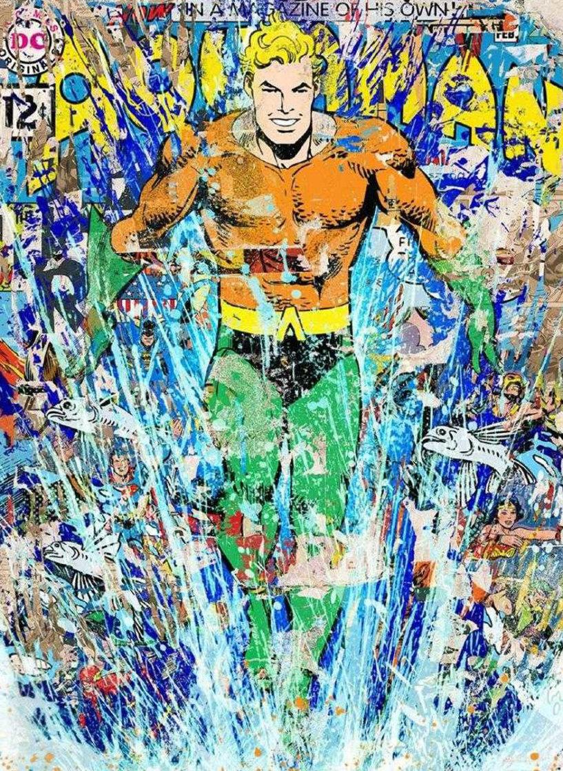 Aquaman (Handfinsihed) 2018 Super Huge  Limited Edition Print by Mr. Brainwash
