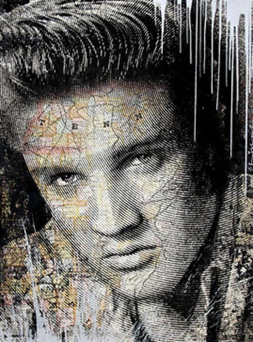 King of Rock & Roll (Silver Edition) 2017 Limited Edition Print by Mr. Brainwash