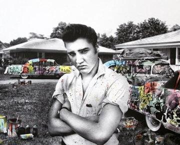 Happy Birthday Elvis! - Cadillac King 2019 Embellished Limited Edition Print by Mr. Brainwash