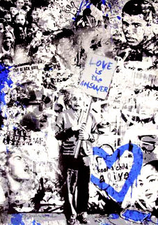 Keep a Child Alive (Blue) 2011 Limited Edition Print by Mr. Brainwash