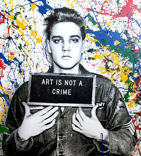 Jailhouse Pop (Multi-Color Canvas) 2019 Embellished Limited Edition Print - Mr. Brainwash