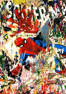 Spiderman 2019 Embellished Limited Edition Print by Mr. Brainwash