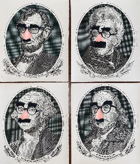 Incognito President's Day, Set of 4 Screenprints  2019 Limited Edition Print by Mr. Brainwash