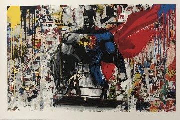 Batman Vs Superman 2016 Limited Edition Print by Mr. Brainwash
