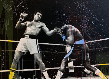 Grand Ali - Watercolor Series Unique  2017 36x48 Works on Paper (not prints) by Mr. Brainwash