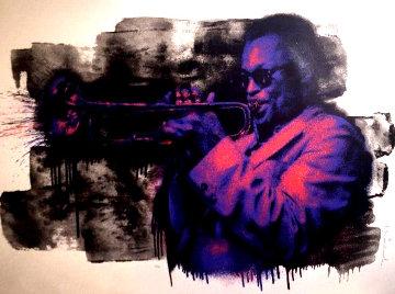 Miles Davis (Purple) Limited Edition Print by Mr. Brainwash