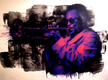 Miles Davis (Purple) Limited Edition Print - Mr. Brainwash