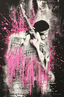 Jimi Hendrix (Pink) 2015 Limited Edition Print by Mr. Brainwash