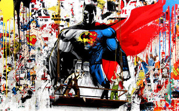 Batman vs Superman 2016 Limited Edition Print by Mr. Brainwash