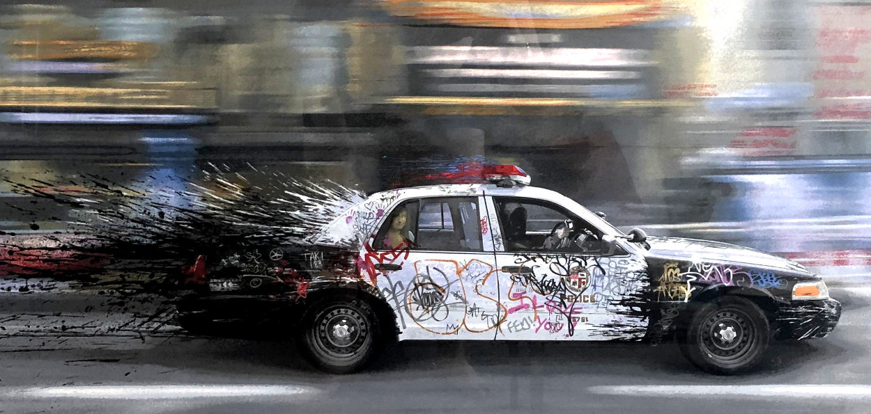 Metro Polisia Limited Edition Print by Mr. Brainwash
