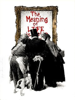 Meaning of Life (Red) 2019 Limited Edition Print by Mr. Brainwash