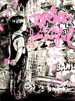 Toronto is Beautiful (Pink) 2019 Limited Edition Print - Mr. Brainwash